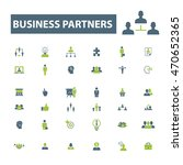 business partners icons | Shutterstock .eps vector #470652365