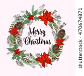 merry christmas elements and...   Shutterstock .eps vector #470674871