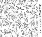little flower line art black... | Shutterstock .eps vector #470679335