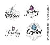 jewelry label with watercolor...   Shutterstock .eps vector #470686814