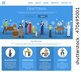 one flat craftsman internet... | Shutterstock .eps vector #470695001
