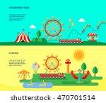 amusement funfair park park... | Shutterstock .eps vector #470701514