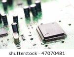 close up of computer mainboard | Shutterstock . vector #47070481