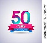 50 years anniversary logo  blue ... | Shutterstock .eps vector #470706899