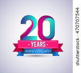20 years anniversary logo  blue ... | Shutterstock .eps vector #470707544