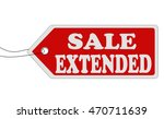 sale extended red price tag on... | Shutterstock .eps vector #470711639