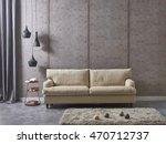 modern living room sofa and... | Shutterstock . vector #470712737