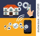 smartphone control gears smart... | Shutterstock .eps vector #470712935