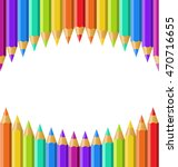 colored pencils isolated on... | Shutterstock .eps vector #470716655
