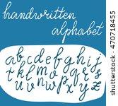 handwritten alphabet. hand...   Shutterstock .eps vector #470718455