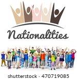 diversity nationalities unity... | Shutterstock . vector #470719085