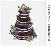 illustration of beautiful naked ... | Shutterstock .eps vector #470727689