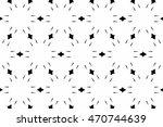 black and white ornament. t  | Shutterstock . vector #470744639