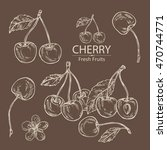 collection of cherry . hand... | Shutterstock .eps vector #470744771