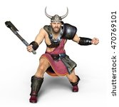 3d Cg Rendering Of A Viking