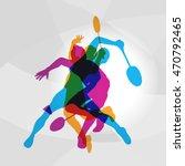 Modern Badminton Players In...