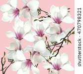 floral orchid pattern | Shutterstock . vector #470798321