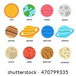 planet icon set. planets with... | Shutterstock .eps vector #470799335