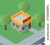 an isometric artwork of a small ... | Shutterstock .eps vector #470804891