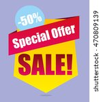 super sale vector banner.... | Shutterstock .eps vector #470809139