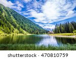 the lake nambino in the alps... | Shutterstock . vector #470810759