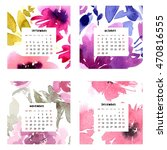 Calendar With Watercolor Flowers