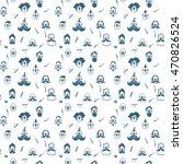 vector hipster seamless pattern ... | Shutterstock .eps vector #470826524
