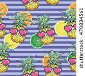 vector seamless tropical ... | Shutterstock .eps vector #470834561