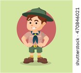 boy scout illustration design | Shutterstock .eps vector #470846021