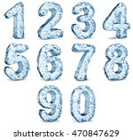 set of numbers image. material... | Shutterstock . vector #470847629