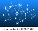 social media communication | Shutterstock . vector #470851985