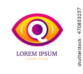 abstract eco logo with eye icon.... | Shutterstock .eps vector #470853257