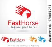 fast horse logo template design ...   Shutterstock .eps vector #470855075