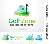golf zone logo template design... | Shutterstock .eps vector #470855099