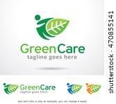 green care logo template design ... | Shutterstock .eps vector #470855141