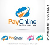 pay online logo template design ... | Shutterstock .eps vector #470855375