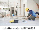 construction worker with... | Shutterstock . vector #470857094