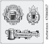 retro labels for oktoberfest... | Shutterstock .eps vector #470860817