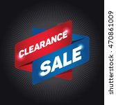 clearance sale arrow tag sign. | Shutterstock .eps vector #470861009