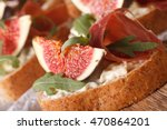sandwich with figs  ham and... | Shutterstock . vector #470864201