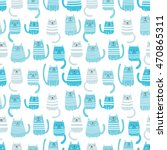 seamless vector pattern with... | Shutterstock .eps vector #470865311
