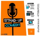 stand up comedy   flat style... | Shutterstock .eps vector #470869331