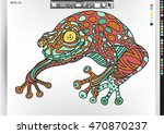frog. animal patterns with hand ... | Shutterstock .eps vector #470870237