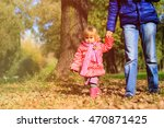 father and little daughter... | Shutterstock . vector #470871425