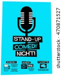 stand up comedy night   flat... | Shutterstock .eps vector #470871527