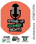 stand up comedy night   flat... | Shutterstock .eps vector #470871554