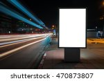 blank billboard on city street... | Shutterstock . vector #470873807