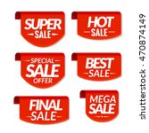 sale tags labels. special offer ... | Shutterstock . vector #470874149