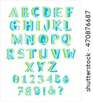 colorful latin alphabet with... | Shutterstock .eps vector #470876687