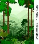 rainforest vector illustration. ... | Shutterstock .eps vector #470877689